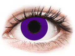 CRAZY LENS - Solid Violet - dienas ar dioptriju (2 lēcas)