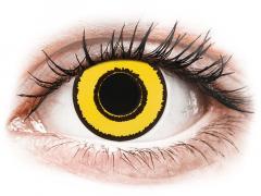 CRAZY LENS - Yellow Twilight - dienas ar dioptriju (2 lēcas)