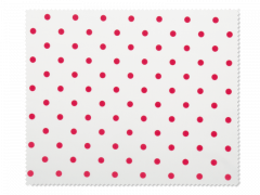 Kopšanas drāniņa brillēm - sarkanā polka-dot stilā