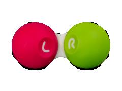 Kontaktlēcu konteinerītis - rozā &zaļš