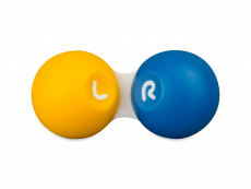 Kontaktlēcu konteinerītis - dzeltens &zils