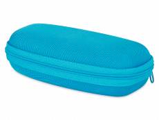 Bērnu briļļu futlāris ar rāvējslēdzēju - zils