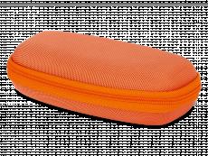 Bērnu briļļu futlāris ar rāvējslēdzēju - oranžs