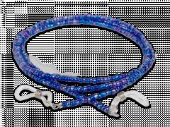 Briļļu aukliņa zilā krāsā- pērļota