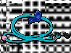 Briļļu aukliņa zilā krāsā- delfīns