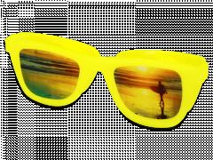 OptiShades lēcu konteinerītis - dzeltens